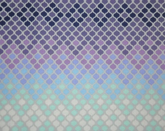One yard of Purple Mosaic 100% Cotton Quilt Fabric by Tula Pink