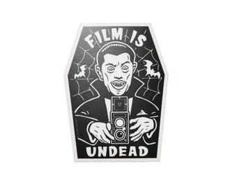 Film is UNDEAD Vinyl Sticker