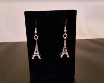 Eiffel Tower, Dangle, Earrings, Metal