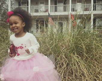 Full length children's princess tutu with flowers