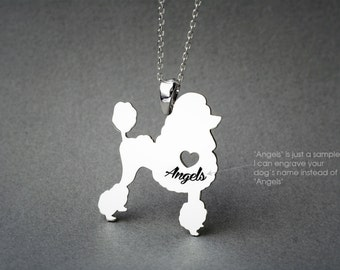 POODLE NAME Necklace - Poodle Necklace- Personalised Necklace - Dog breed Necklace - Dog Necklace