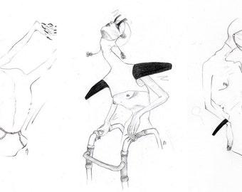 Passages, CA, graphite original series of 3