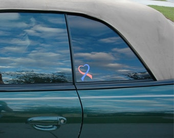 Pregnancy and Infant Loss Awareness Ribbon Vinyl Decal with Free Shipping in US