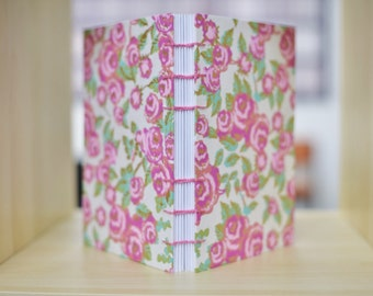 Rose Coptic Stitch Journal