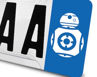 Sticker BB8 Star Wars for number plates