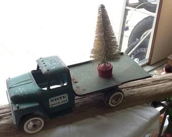 Vintage Metal Toy Truck Ertl Truck line Flatbed