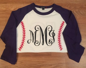 Baseball shirt- front & back