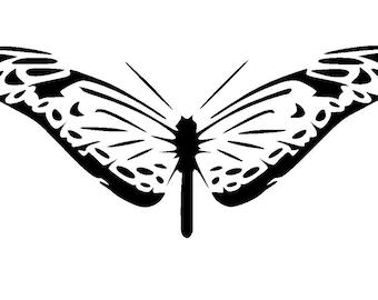 "5.8/8.3"" Butterfly stencil design 5. A5"