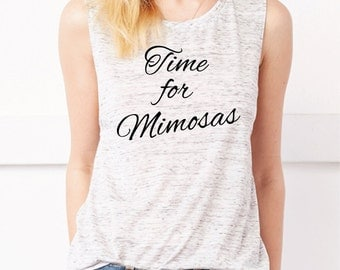 Time For Mimosas Tank Top. Champagne Shirt. Women's Muscle Tank. Sunday Brunch. Mimosa Shirt. Gym Tank. Workout Tank. Champagne Tank Top.