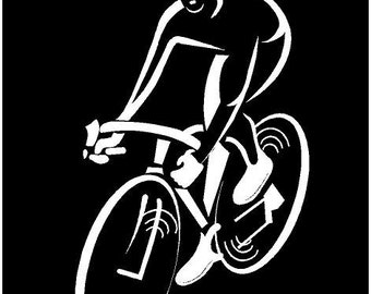 Bicycle Decal Etsy - Cycling custom vinyl decals for car