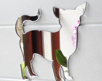 Chihuahua Standing Dog Acrylic Mirror