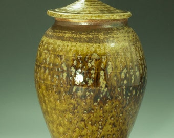 Wood Fired Lidded Jar