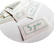FREE SHIP 1000 custom clothes label cotton printed labels soft washable