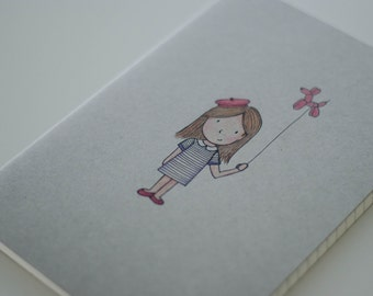 Notebook with little Parisienne