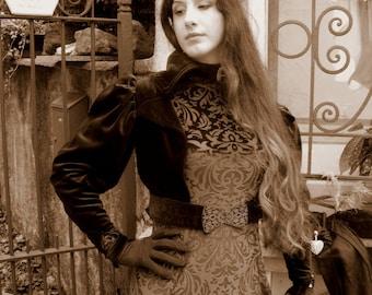 Fantasy dress in Velvet decorated