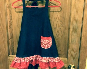 Girls Holiday apron