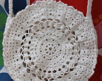 Lace cotton bag.romantic handbag