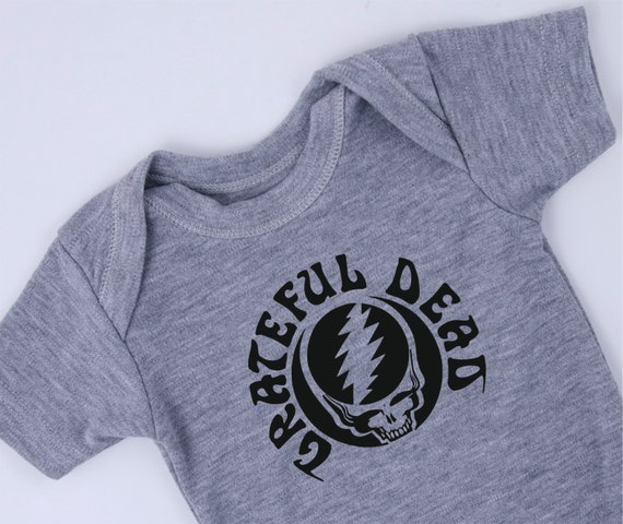 GRATEFUL DEAD esie Black Printed Gray esie by