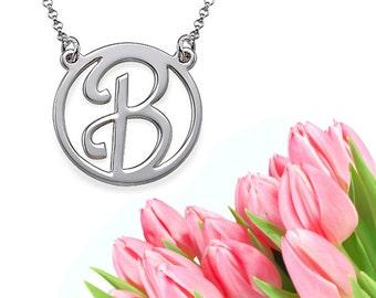 Cursive Initial Necklace (silver)