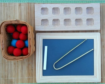 Preschool and Kindergarten Math Materials, Ten Frame, Learning to Count, Addition, Subtraction