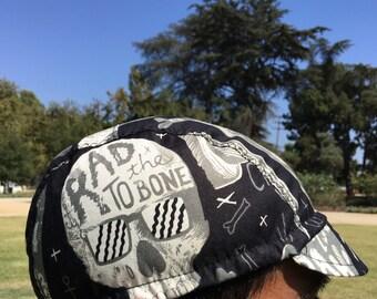 cycling cap RAD THE BONE cotton print  M L
