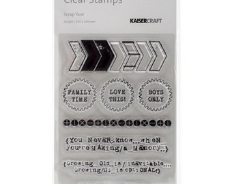 Kaisercraft-Scrap Yard Clear Stamps