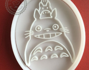 Large Totoro cookie cutter Chibi Chu totoro 3D cookie cutter Biscuit Mold Fondant Mold Studio ghibli miyazaki my neighbor totoro