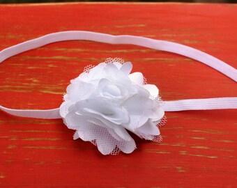 The White Whitney Chiffon Flower