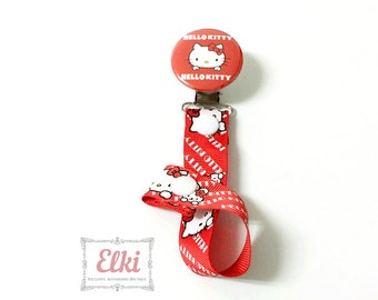 Baby pacifier clip Hello Kitty designed a great