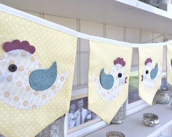 Easter Decoration Bunting / Lemon Chick Bunting