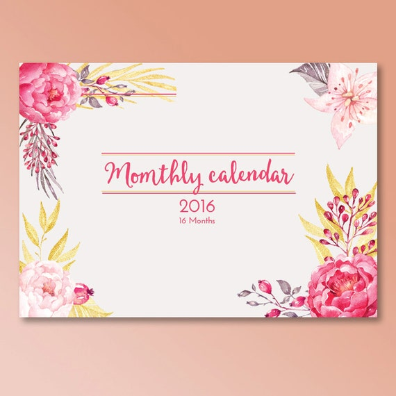 Desk Calendar Design Your Own : Items similar to monthly planner calendar  months