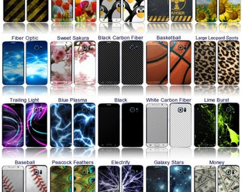 Choose Any 2 Vinyl Skin/Decal/Sticker Designs for the Samsung Galaxy S6 Edge Android Phone