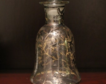 Liquor bottle, decorated in silver 1940