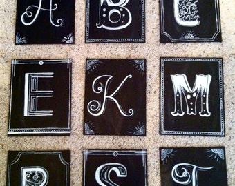 Chalkboard Canvas Letters