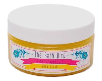 Pink Grapefruit Body Scrub, Grapefruit Sugar Scrub, Moisturizing Body Scrub, Exfoliating Scrub, Body Polish
