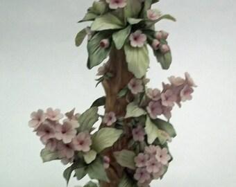 """Rare 12"""" Tall  Savastano Capodimonti Floral Tower"""