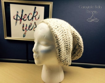 Slouchy Crochet Beanie Hat