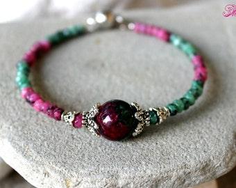 Fertility Bracelet, Ruby Zoisite Bracelet, Healing Bracelet, Zoisite Bracelet, Childbirth, Chakra Bracelet, Conceive Jewelry, Pregnancy