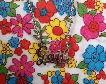 Vintage 1970s Gail name necklace