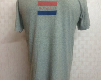 Vintage Calvin Klein Hawaii Tshirt Heather Grey Medium Size