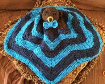 Teddy bear cuddle blanket