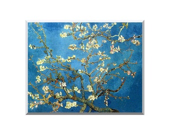 Almond Tree in Blossom Vincent van Gogh Painting Reproduction Stretched Art Canvas Giclee Print - Sizes Small to Large - STM00435-68