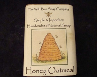 Honey Oatmeal Soap, Soap, Handcrafted Soap, Natural Soap, Cold Process Soap, Oatmeal Soap, Bar Soap, Bath Soap