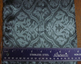 100% Silk Charmeuse Prints - Medallion Dark Grey