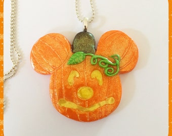 Mickey Mouse Pumpkin Necklace