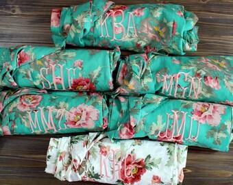 1 PLUS SIZE  - Floral Cotton Bridesmaid Robe - Maternity Cotton Robe - One robe - XXXL - Monogrammed Bridesmaid Robe - Vintage