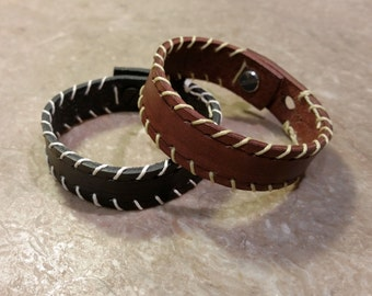Stiched Leather Bracelet