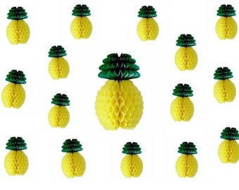Pineapple Tutti Frutti Honeycomb Hanging Decoration