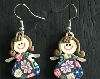 Polymer Clay Doll Earrings
