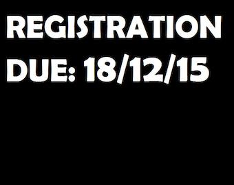 Registration Reminder Decal - Custom Date